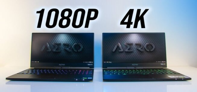 4K Vs 1080p Laptops