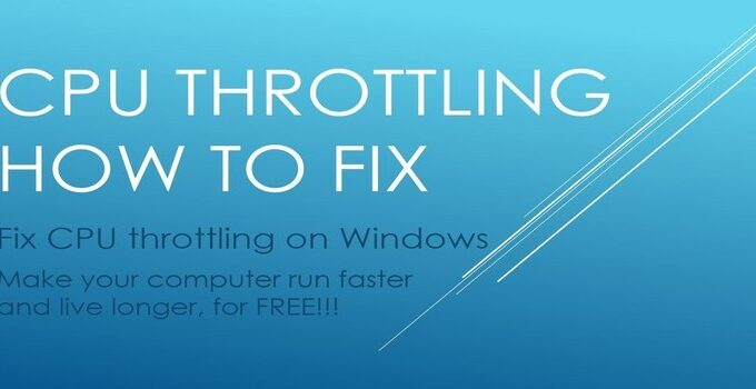 CPU Throttling and How to Fix It? | ReviewsPapa